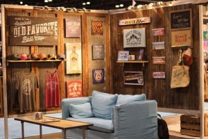 Casual trade show booth